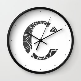 "Tao ""Letter C"" Wall Clock"