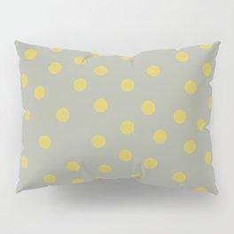 Simply Dots Mod Yellow on Retro Gray Pillow Sham