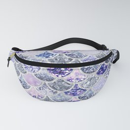 Purple and Ultra Violet Trendy Glitter Mermaid Scales Fanny Pack