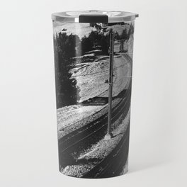 Cogwheel Rail Track Travel Mug