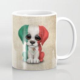Cute Puppy Dog with flag of Mexico Coffee Mug