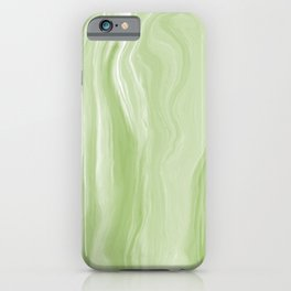 Marblesque Green 1 - Abstract Art Marble Series iPhone Case