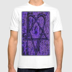 Violet Thoughts - Heartagram White Mens Fitted Tee MEDIUM