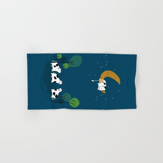 A cow jump over the moon Hand & Bath Towel