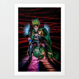 Little Loki's New Katana Art Print