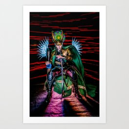 Little Loki's New Katana Art Print