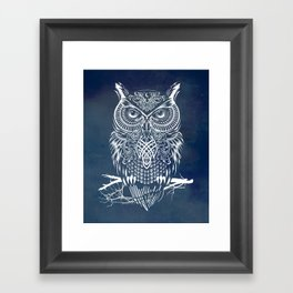Warrior Owl Night Framed Art Print