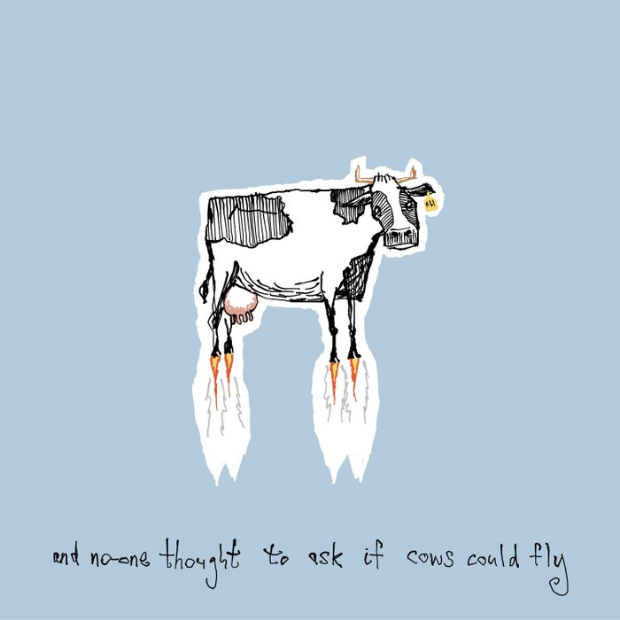 and no-one thought to ask if cows could fly Comforters