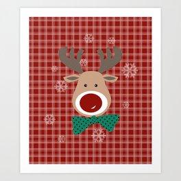 Deer. Patchwork Art Print