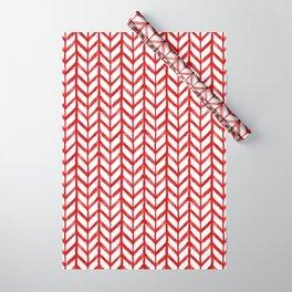 Shibori Chevrons - Peppermint Wrapping Paper