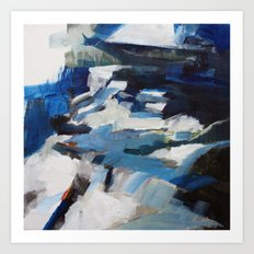 Moonlight Vail Waterfall Art Print