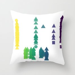 Fork Length Throw Pillow