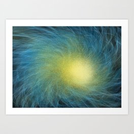 Faceted Atmospheric Spiral Art Print