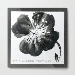 004/100: PINK EVENING PRIMROSE [100 Day Project 2020] Metal Print