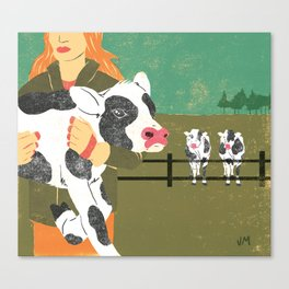 Cow Family Canvas Print