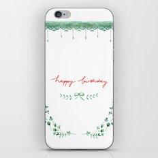 Happy Birtday_04 iPhone & iPod Skin
