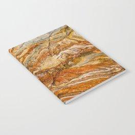 Orange Rock Texture Notebook