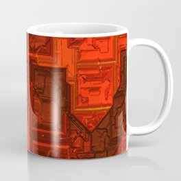 Luxury glowing red cubes Coffee Mug