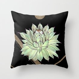 Sempervivum Eye 03 Throw Pillow