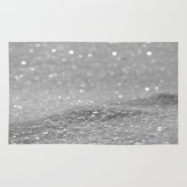 Glitter Silver Rug