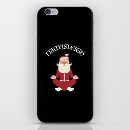 Funny Christmas Namasleigh Santa Yoga Position Gift T-Shirt iPhone Skin