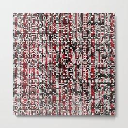 Linear Thinking Trip Switch (P/D3 Glitch Collage Studies) Metal Print