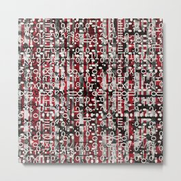 Linear Thinking Trip Switch (P/D3 Glitch Collage Studies) Metal Print