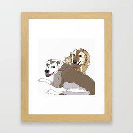 Family Dog Pack Framed Art Print
