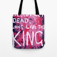 "coldplay Tote Bags featuring ""Long Live The King""-Coldplay by Fabfari"