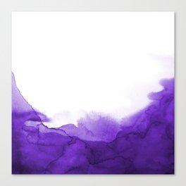 Ultra Voilet Watercolour Storm Painting Canvas Print
