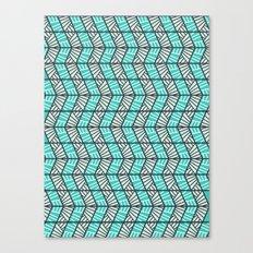 Blue Retro  Canvas Print