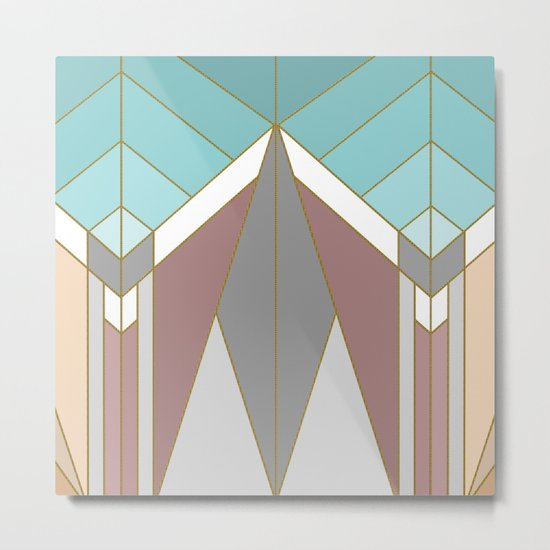 ART DECO G2 (abstract geometric) Metal Print
