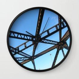 Bridge in Mpls Wall Clock