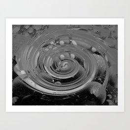 bubble + twirl Art Print