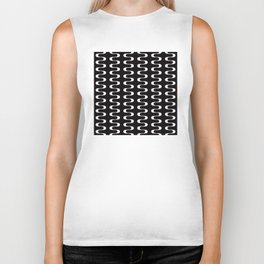 Geometric Pattern 173 (waves) Biker Tank