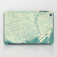 toronto iPad Cases featuring Toronto Map Blue Vintage by City Art Posters