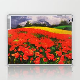Poppies before the Storm Laptop & iPad Skin