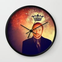 supernatural Wall Clocks featuring Crowley - Supernatural by KanaHyde