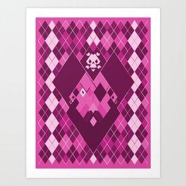 Arrrrrgyle - Pink Art Print