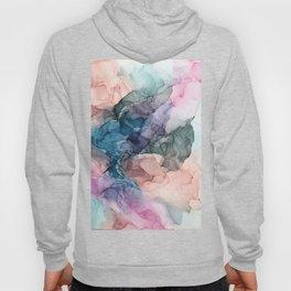 Heavenly Pastels 2: Original Abstract Ink Painting Hoody