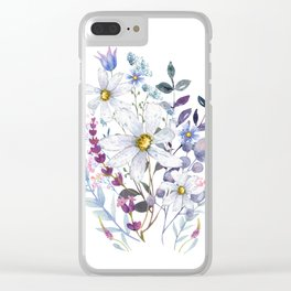 Wildflowers V Clear iPhone Case