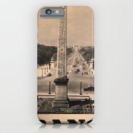 retro  France vintage poster iPhone Case