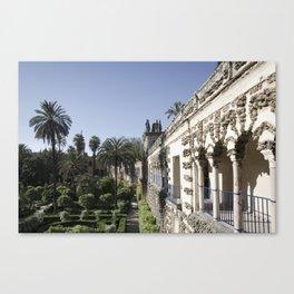 Royal Garden View - Alcazar of Seville Canvas Print