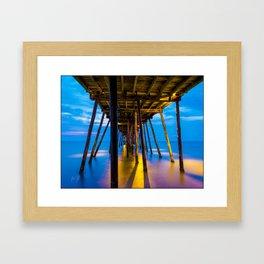Avalon Pier Sunrise Framed Art Print