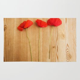 3 poppies Rug