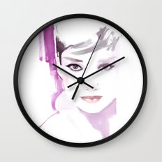 Fashion illustration in watercolors and ink Wall Clock
