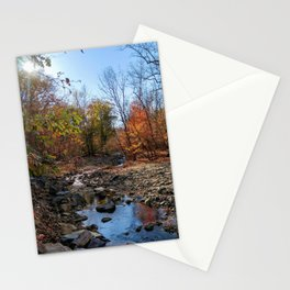 Follow the stream of life Stationery Cards