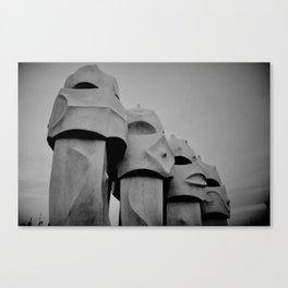 Chimney stacks, Barcelona. Canvas Print