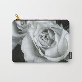 Textured Rose in B&W Carry-All Pouch