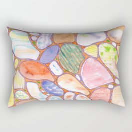 Friendly Colorful Pebbles Pattern Rectangular Pillow